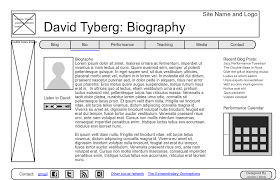 biography page template