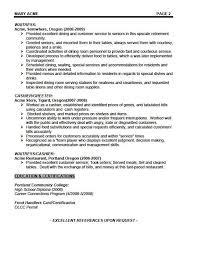Waiter Resume Delectable Sample Waiter Resumes Kenicandlecomfortzone