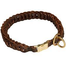 dog leather collar braided design