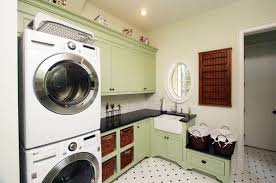 Stacked washer and dryer for laundry room