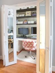 example of a mid sized trendy built in desk um tone wood floor and