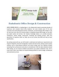 Apex Office Design Tips For Endodontic Office Design By Apex Design Build Issuu