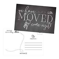 Postcard How To Address Amazon Com Set Of 50 Weve Moved Postcards Change Of New Address