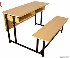 double school desk and bench