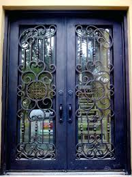 wrought iron front doorsFront Doors  Madison Wrought Iron Door Glass Outside View Front