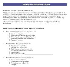 Job Satisfaction Survey Template Cool Customer Satisfaction Survey Questions Pdf Sample Questionnaire