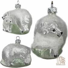 Glasfigur Glastier Glas Figur Tier Eisbär