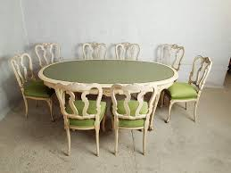 Vintage Mid 20th C French Provincial Louis Xv Style 8 Seat Dining