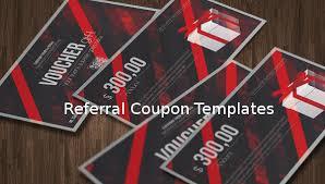 Referral Coupon Templates 17 Free Psd Ai Vector Pdf