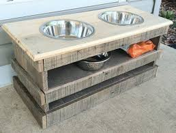 ... Wooden Pallet Dog Bowl Stand ...