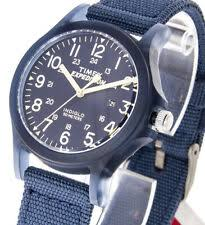 Wonderful Timex Damenuhr Expedition Acadia TW4B09600 Textilband Jeansblau Beleuchtung  5ATM