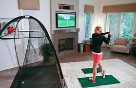 best home golf simulator. Indoor Golf Simulator Trainer Swing Analyzer TOP Courses Putt Home Training Aid Best