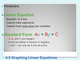 4 5 graphing linear equations