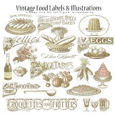 Vintage Food Labels Printable Vintage Food Labels Printable