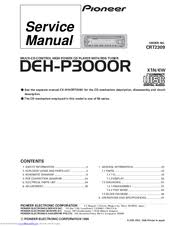 pioneer deh p3000r manuals