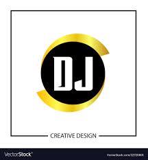 Dj Logo Design Png Initial Letter Dj Logo Template Design