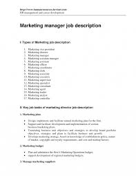 Assistant Marketing Manager Job Description Director Operations
