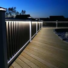 deck lighting ideas. Deck Lighting System Finyl Linea For Railing Outdoor Ideas Pictures . E