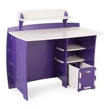 kids desk furniture. Legare Kids 43 In. Desk With Shelf And File Cart - Purple White | Hayneedle Furniture N