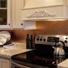 Copper Backsplash Kitchen Copper Backsplash White Tile In Sink Cabinets With Dishwasher