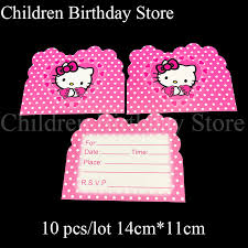 Hello Kitty Party Invitation Us 1 94 33 Off 10pcs Lot Hello Kitty Invitations Hello Kitty Theme Birthday Party Decorations Hello Kitty Birthday Party Invitations Cards In Cards