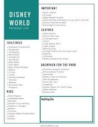 Cents To Dollars Disney Packing List