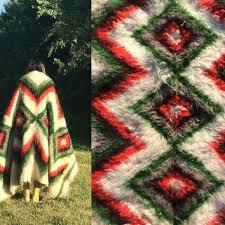 vintage 1940 s 1950 s gy cabin blanket rug peruvian alpaca south american native american kilim