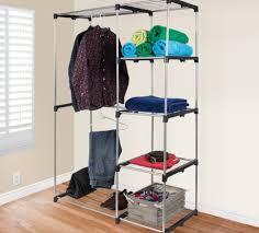 Sturdy Coat Rack Storage Wooden Wardrobe Closet Rolling Closet Rolling Coat Rack 25