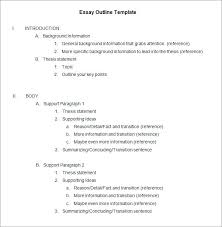 Example Of An Essay Outline Printable Writing Process And Essay Set