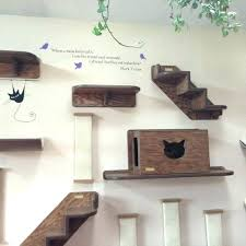 cat steps for wall unique living room with white grey 2 shelves incredible climbing uk p