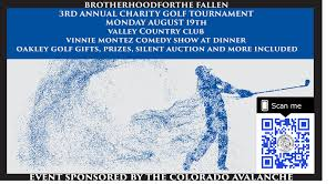 our 3rd annual charity golf tournament will be at the exclusive valley country club on monday august 19th 2019 in centennial colorado event sponsored by