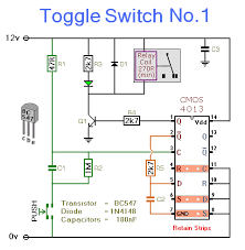 toggle switch circuit diagram ireleast info toggle switch no 1 cmos 4013 wiring circuit