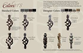 Wrought Iron Color Iron Balusters Twist And Basket Series