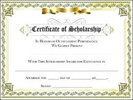 Scholarship Certificate Template For Word Certificate Templates In Word Sociallawbook Co