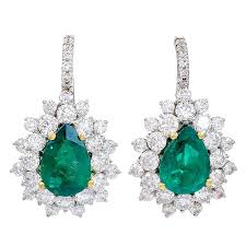 emerald chandelier earrings faux