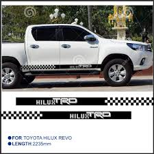 Online Shop 2 PC hilux HILUX chequered racing side stripe graphic ...