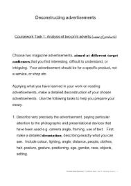 magazine advert exam task sheet oht