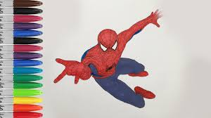 Print image coloring pages drawings color spiderman coloring art. Spiderman 2 Coloring Pages The Amazing Spiderman 2 Sailany Coloring Kids Youtube