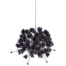 Black Rose Hanging Light