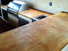 stained countertop