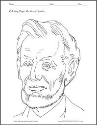 Small Picture Abraham Lincoln Coloring Page Student Handouts