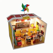 diy dollhouse with golf course yiliay graduation gift diy miniature house classroom dollhouse kit