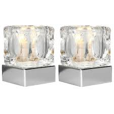 Ice Cube Table Lights Details About Table Lamps Touch Dimmer Ice Cube Glass Lights Modern Bedside Lamp Shade Lounge