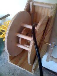 build a garden hose reel air hose reel by woodworking build garden hose reel