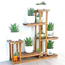 wooden plant holder wooden wooden pot