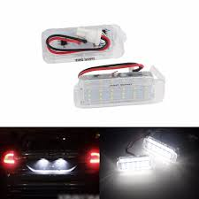 Ford Galaxy Lights Us 12 23 8 Off Angrong 2x White Led License Number Plate Light For Ford Galaxy Mkiii Ford S Max 2006 Jaguar Xf 2007 Ca217 In Signal Lamp From
