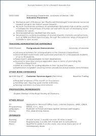 Resume Format For Graduate School Applications Sample Application ...