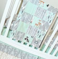 gray baby bedding sets mint woodlands crib set arrows bears