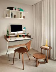 Computer Desk And Chair Furniture Small Office Design With Curtain Ideas And Accent