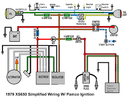 basic wiring diagram 79 pamco ignition yamaha xs650 forum it is superior to most of the similar pamco ignition wiring diagrams because it includes the horn and the neutral and gauge lights